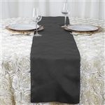 Charcoal Grey Polyester Runner for Table Top Wedding Catering Party Decorations