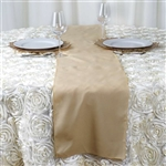 Champagne Polyester Runner Table Top Wedding Catering Party Decorations