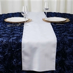 White Polyester Runner Table Top Wedding Catering Party Decorations