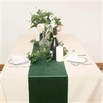 "12"" x 107"" Econoline Velvet Table Runner - Hunter Green"