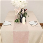 "12"" x 107"" Econoline Velvet Table Runner - Blush/Rose Gold"