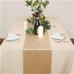 "12"" x 107"" Econoline Velvet Table Runner - Champagne"