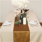 "12"" x 107"" Econoline Velvet Table Runner - Gold"