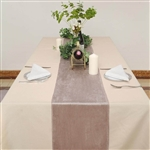"12"" x 107"" Econoline Velvet Table Runner - Dusty Rose"