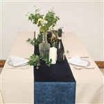 "12"" x 107"" Econoline Velvet Table Runner - Navy Blue"