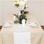 "12"" x 107"" Econoline Velvet Table Runner - White"