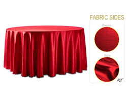 "Rental - Satin Dupioni - 108"" Round Tablecloth"