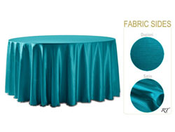 "Rental - Satin Dupioni - 120"" Round Tablecloth"