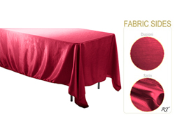 "Rental - Satin Dupioni - 60"" x 120"" Rectangular Tablecloth"
