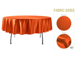 "Rental - Satin Dupioni - 90"" Round Tablecloth"