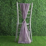 6Ft Amethyst Premium Chiffon Designer Chair Sashes - 5 PCS