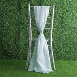 6Ft Ice Blue Premium Chiffon Designer Chair Sashes - 5 PCS
