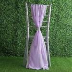6Ft Lavender Premium Chiffon Designer Chair Sashes - 5 PCS