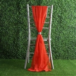 6Ft Red Premium Chiffon Designer Chair Sashes - 5 PCS