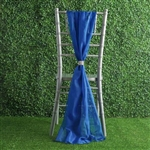 6Ft Royal Blue Premium Chiffon Designer Chair Sashes - 5 PCS