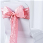 Crinkle Taffeta Chair Sash - Rose Quartz