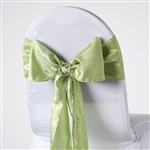 Crinkle Taffeta Chair Sash - Apple Green