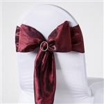 Crinkle Taffeta Chair Sash - Burgundy