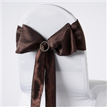Crinkle Taffeta Chair Sash - Chocolate