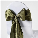 Crinkle Taffeta Chair Sash - Willow Green