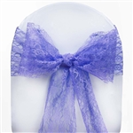 "5 PCS Royal Blue Lace Chair Sashes Tie Bows - 6""x108"""