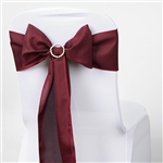 Chair Sash (Polyester) - Burgundy