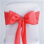 Econoline Polyester Chair Sash in Coral - 5 Packs