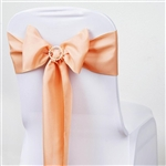 Chair Sash (Polyester) - Peach