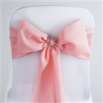 Econoline Polyester Chair Sash in Rose Quartz - 5 Packs