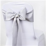 Chair Sash (Polyester) - Silver