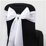 Chair Sash (Polyester) - White