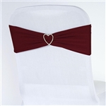 Chair Sash (Spandex) - Burgundy