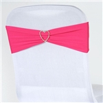 Chair Sash (Spandex) - Fushia