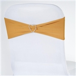 Chair Sash (Spandex) - Gold