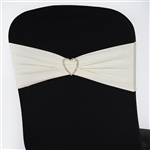 Chair Sash (Spandex) - Ivory