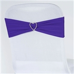 Chair Sash (Spandex) - Purple