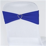 Chair Sash (Spandex) - Royal Blue