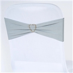 Chair Sash (Spandex) - Silver