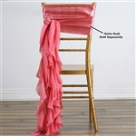 Chiffon Curly Chair Sashes - Rose Quartz