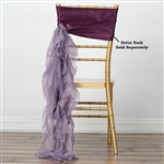 Chiffon Curly Chair Sashes - Amethyst