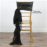 Chiffon Curly Chair Sashes - Black