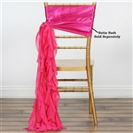 Chiffon Curly Chair Sashes - Fuchsia