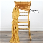 Chiffon Curly Chair Sashes - Gold