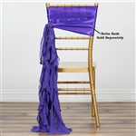 Chiffon Curly Chair Sashes - Purple