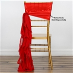Chiffon Curly Chair Sashes - Red