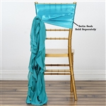 Chiffon Curly Chair Sashes - Turquoise