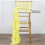 Chiffon Curly Chair Sashes - Yellow