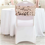 Big Payette Sequin Round Chair Sashes - 5 Pack - Blush/Rose Gold