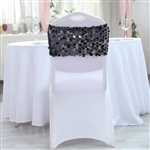 Big Payette Sequin Round Chair Sashes - 5 Pack - Black