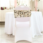 Big Payette Sequin Round Chair Sashes - 5 Pack - Champagne